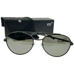 Mont Blanc MB605S-02C-56 Aviator Men's Sunglasses